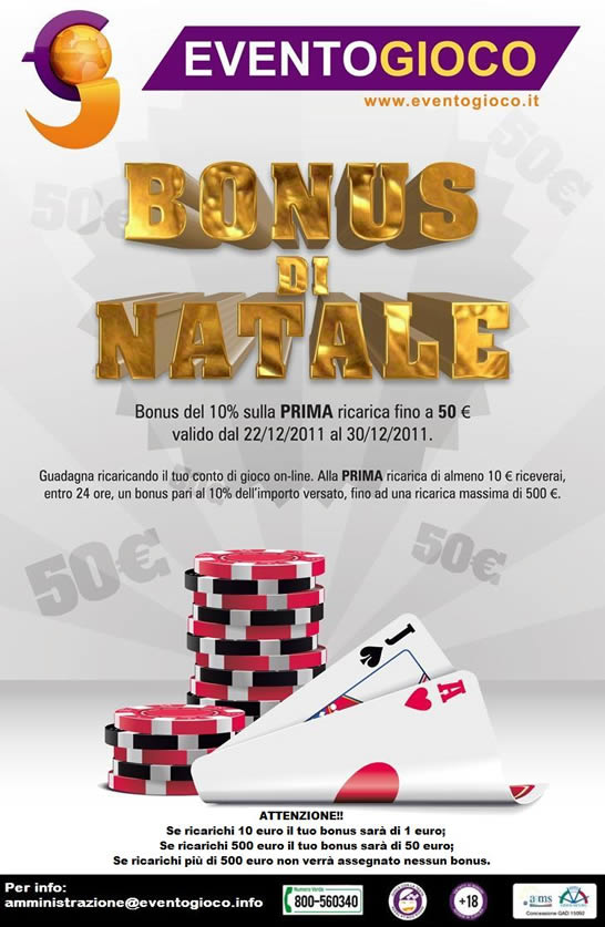 Bonus Natale EventoGioco.it